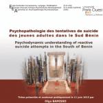 Psychopathologie des tentatives de suicide des jeunes adultes dans le sud Bénin